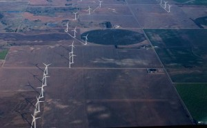 Large field of wind generators