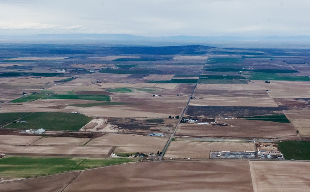 Aerial view of Idaho valley