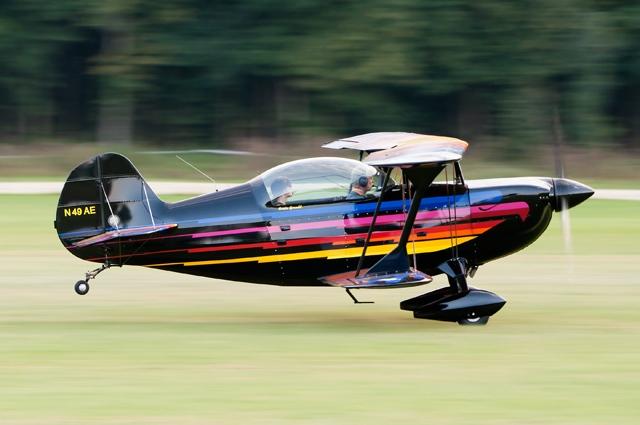 Christen Eagle biplane taking off