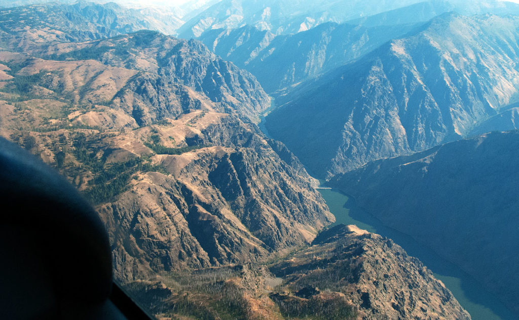 Respecting absolutes enables safe flight past the entrance to Hell's Canyon wilderness area.