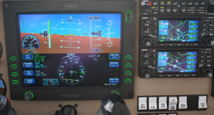 Digital flight display in aircraft instrument panel