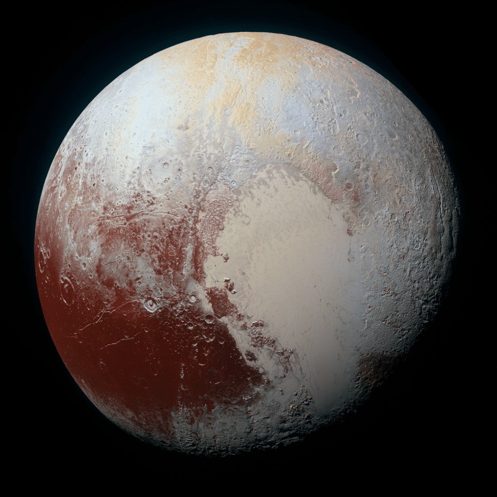 image of Pluto shot from New Horizons space probe