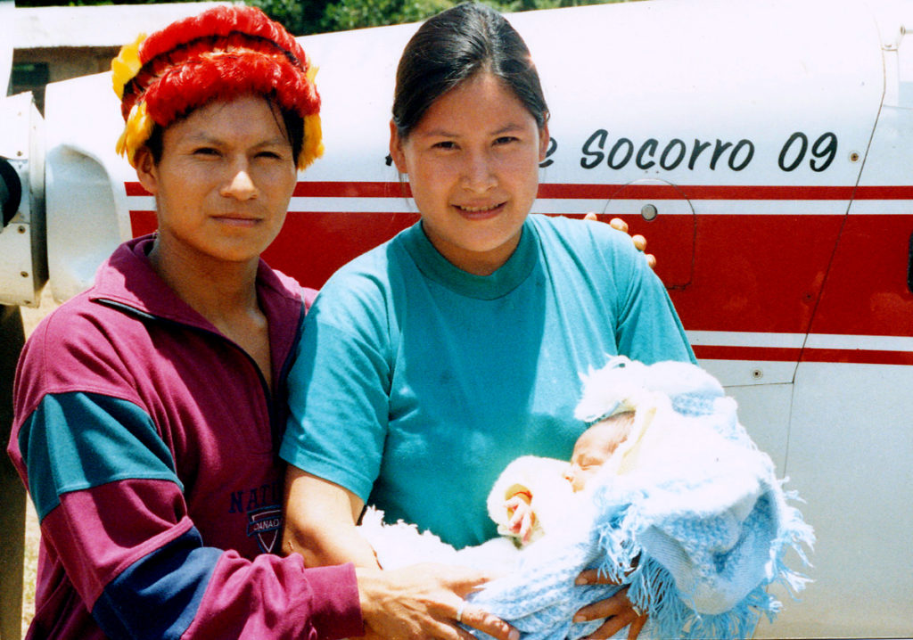 This Atshuar couple returned home with a healthy mother and baby—not always a given.