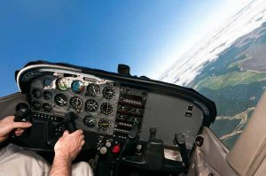 Aviation & Space Writer, James Rush Manley, viewed the earth from cessna cockpits like this one