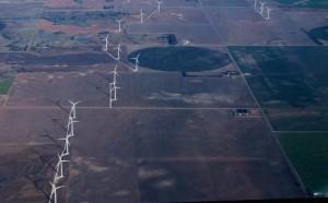 Large field of wind generators