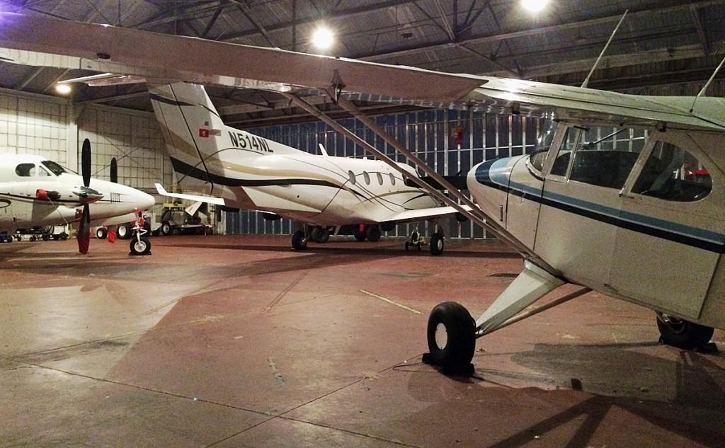 Piper Pacer in large hangar