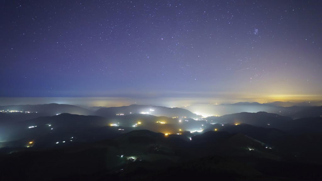City lights seen from mountain