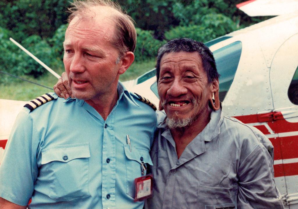Me and Cawena at the Waorani village of Domointaro. Photo credit: David Underwood.