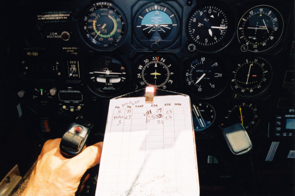 My panel during an approach into Shell.