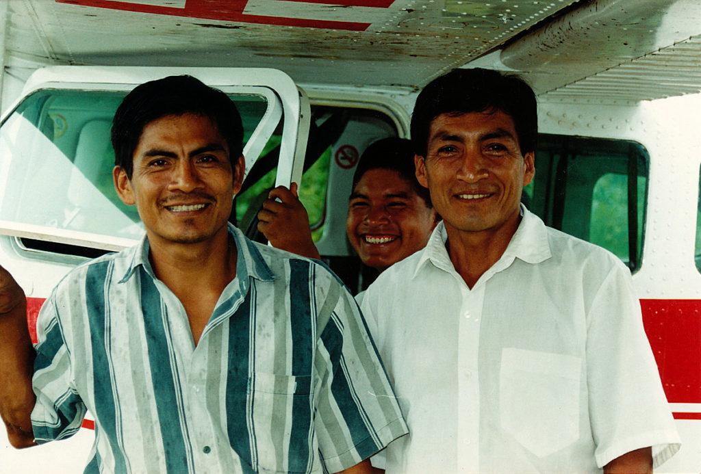 Two Shuar evangelists in the village of Yuvientza.