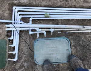 publishing books—an orderly system of irrigation pipes