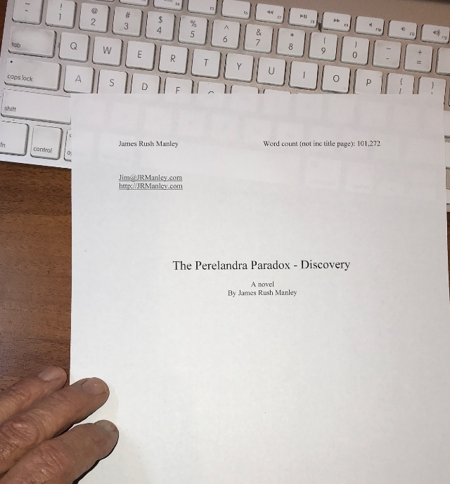 publishing books—title page of book manuscript