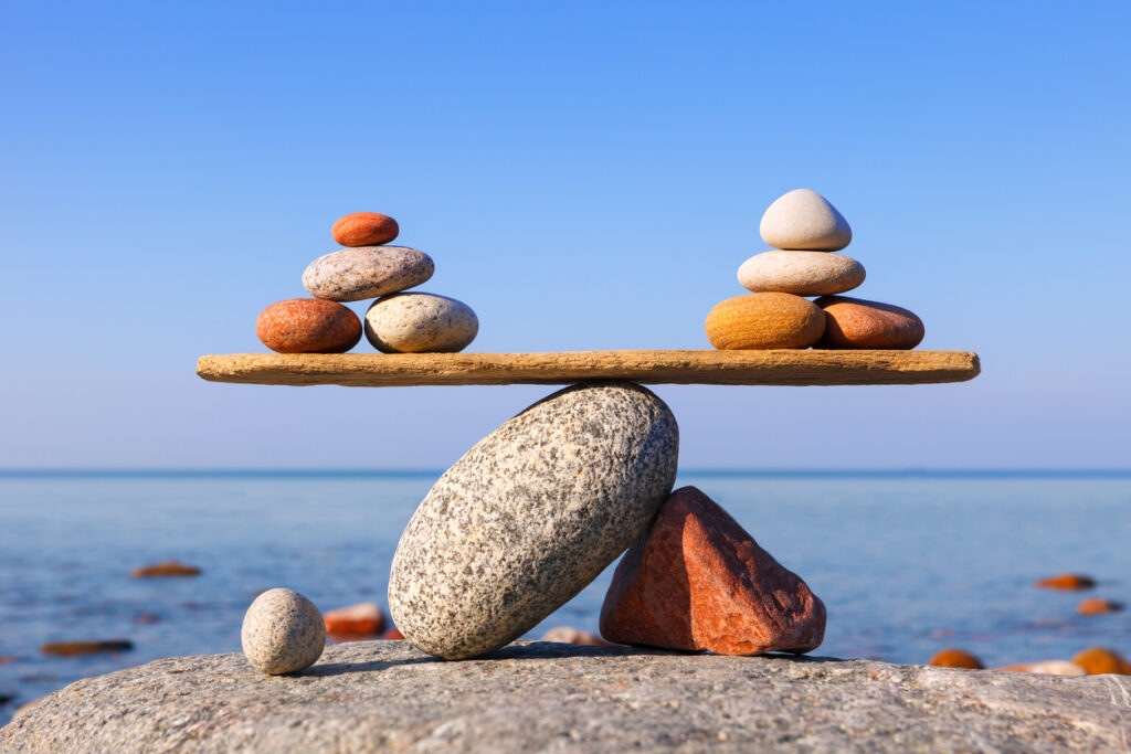 balance beach rocks illustrate the deal we thought we made with God